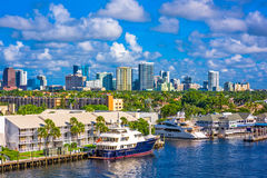 Fort Lauderdale, Florida, USA. Skyline Royalty Free Stock Photography