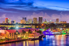 Fort Lauderdale, Florida, USA. Skyline Royalty Free Stock Image