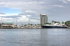 Fort Lauderdale Harbor. Yachts docked at Fort Lauderdale Harbor, Florida Royalty Free Stock Photos