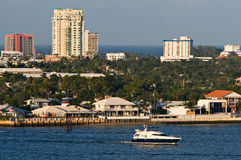 Fort Lauderdale Harbor Hotels Royalty Free Stock Photo
