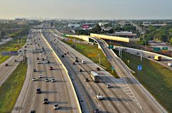 Fort Lauderdale Highway. Aerial view of highway in Fort Lauderdale, Florida Royalty Free Stock Photography