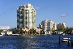 Fort Lauderdale intercoastal droga wodna Zdjęcia Stock