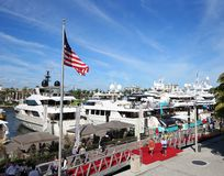 Fort Lauderdale International Boat Show royalty free stock photo