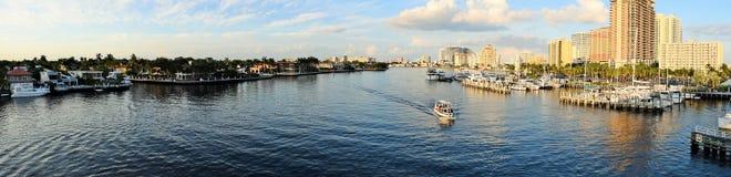 Fort Lauderdale Intracoastal и Марина Стоковое Изображение RF
