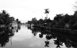 Fort Lauderdale Intracoastal в B&W Стоковые Фотографии RF