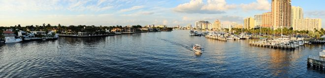 Fort Lauderdale Intracoastal and Marina Royalty Free Stock Image