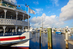Fort Lauderdale marina boats Florida US Stock Photos