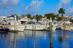 Fort Lauderdale marina boats Florida US Stock Photography