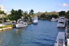 Fort Lauderdale Nowa rzeka Obraz Royalty Free