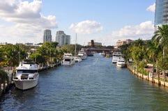 Fort Lauderdale Nowa rzeka Obrazy Royalty Free