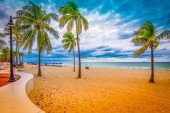 Fort Lauderdale plaża w wieczór, Floryda fotografia royalty free