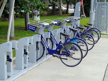 Fort Lauderdale, public bicycle rental Royalty Free Stock Photography