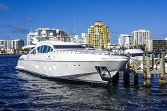 Ft. Lauderdale Intercoastal Waterway Royalty Free Stock Photo