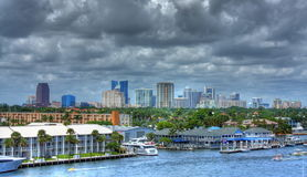 Fort Lauderdale Skyline Royalty Free Stock Images