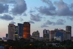 Fort Lauderdale skyline at twilight Royalty Free Stock Photography