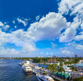 Fort Lauderdale Stranahan river at A1A Florida Royalty Free Stock Images