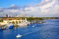 Fort Lauderdale Stranahan river at A1A Florida Royalty Free Stock Photos