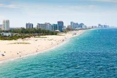 Fort Lauderdale strand, Ft. Lauderdale Florida Arkivfoton
