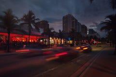 Fort Lauderdale-Strandboulevard Stockfotografie