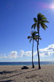 Fort Lauderdale strandFlorida solsken Arkivfoton