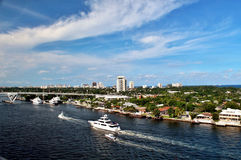 Fort Lauderdale. Views of Fort Lauderdale coastline taken from a cruise ship deck Stock Images
