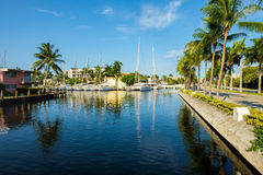 Fort Lauderdale Waterway. Scenic view of the Fort Lauderdale Intracoastal Waterway along Las Olas Boulevard Stock Photo