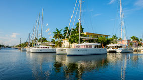 Fort Lauderdale Waterway. Scenic view of the Fort Lauderdale Intracoastal Waterway along Las Olas Boulevard Stock Images
