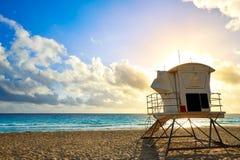Fort Lauderdale wyrzucać na brzeg wschód słońca Floryda USA Zdjęcie Royalty Free