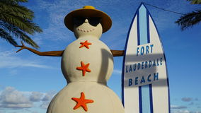 Fort Lauderdalestrand in Florida Stock Afbeeldingen