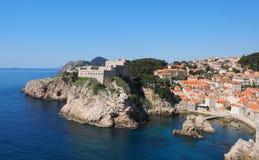 Fort Lawrence Dubrovnik Croatia photos libres de droits