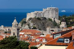 Fort Lawrence in Dubrovnik, Croatia. Medieval fortress of Lovrijenac a.k.a Fort Lawrence in Dubrovnik, Croatia, rebuilt after the 1667 earthquake. The fort is royalty free stock photos