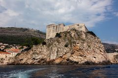 Fort Lawrence in Dubrovnik, Croatia. Medieval fortress of Lovrijenac a.k.a Fort Lawrence in Dubrovnik, Croatia, rebuilt after the 1667 earthquake. The fort is royalty free stock image