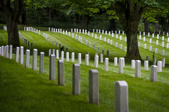 Fort Lawton Military Cemetery, Discovery Park, Seattle, Washington Royalty Free Stock Photos