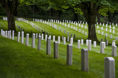 Fort Lawton Military Cemetery, Discovery Park, Seattle, Washington Royalty Free Stock Image
