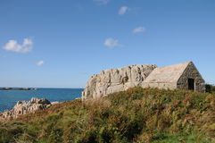 Fort Le Marchant Above L'Ancresse Bay, Guernsey Stock Photos