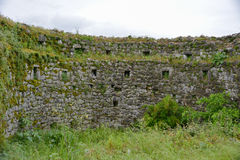 Fort Lesendro, Montenegro. The wall of the Lesendro fort on the Skadar Lake, Montenegro Stock Images