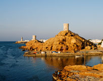 Fort and Lighthouse  in Sur , Oman Royalty Free Stock Image