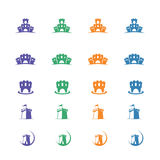 Fort logo, forts vector set Royalty Free Stock Photo