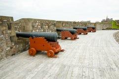 Fort Louisbourg Cannons - Nova Scotia - Canada. Fort Louisbourg in Nova Scotia - Canada royalty free stock images
