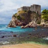 Fort Lovrijenac dans Dubrovnik Images stock