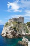 Fort Lovrijenac, Dubrovnik Stock Foto's