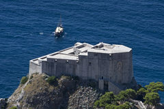 Fort Lovrijenac in Dubrovnik, Croatia. Fort Lovrijenac  is a fortress and theater located outside the western wall of the city of Dubrovnik in Croatia Stock Photography