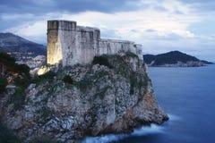 Fort Lovrijenac in Dubrovnik (Kroatië) Royalty-vrije Stock Fotografie