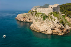 Fort Lovrijenac dubrovnik Kroatië Royalty-vrije Stock Foto
