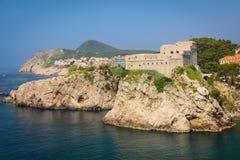 Fort Lovrijenac dubrovnik Kroatië Royalty-vrije Stock Fotografie