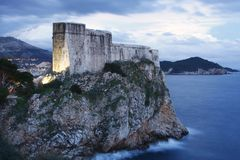 Fort Lovrijenac in Dubrovnik (Kroatien) Lizenzfreie Stockfotografie
