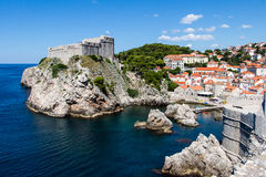 Fort Lovrijenac at Dubrovnik`s Old Town Pile Gate entrance, Croa Royalty Free Stock Photography