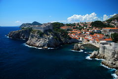 Fort Lovrijenac, Dubrovnik. Fort Lovrijenac or Saint Lawrence Fortress in Dubrovnik. Used in the filming of Game of Thrones Stock Image