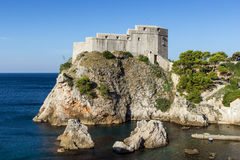 Fort Lovrijenac in Dubrovnik. View of Fort Lovrijenac (St. Lawrence Fortress) in Dubrovnik, Croatia Stock Image