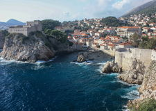 Fort Lovrijenac and Dubrovnik Wall Royalty Free Stock Photo